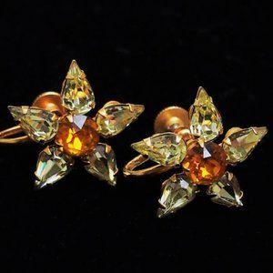 💎HP💎VTG Stunning Glass Crystal Earrings